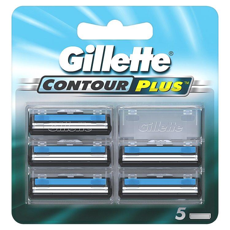 Gillette Contour plus náhradní hlavice do holicího strojku 5 ks