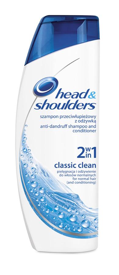 Fotografie Head & Shoulders Classic Clean 2 v 1 šampon a balzám proti lupům 400 ml