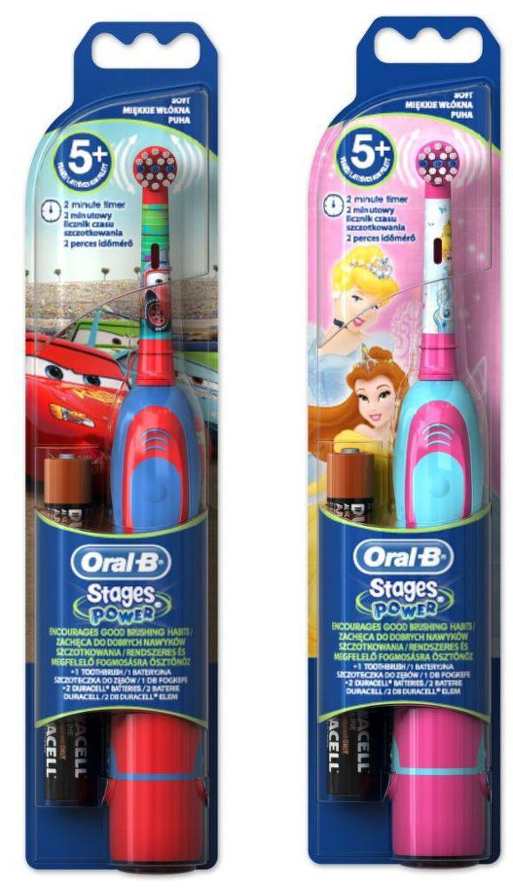 Oral-B Stages Power akumulátorový zubní kartáček Auta/Princezny (chlapecký/dívčí motiv)