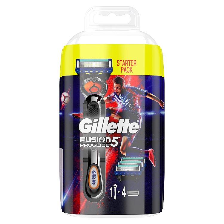 Gillette Fusion Proglide Holicí strojek se zvlhčujícím páskem s 3 náhradními hlavicemi