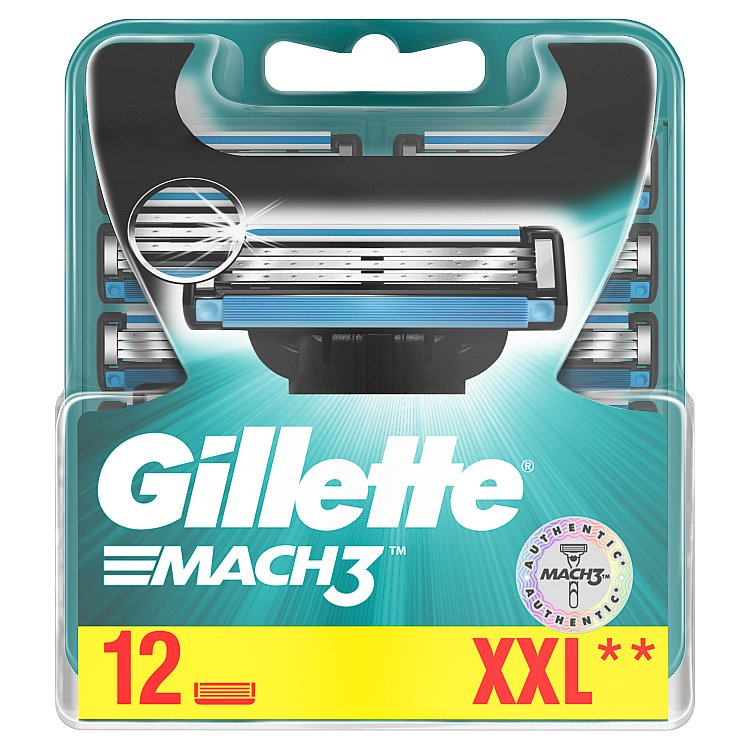 Gillette Mach3 Náhradní hlavice k holicímu strojku 12 ks