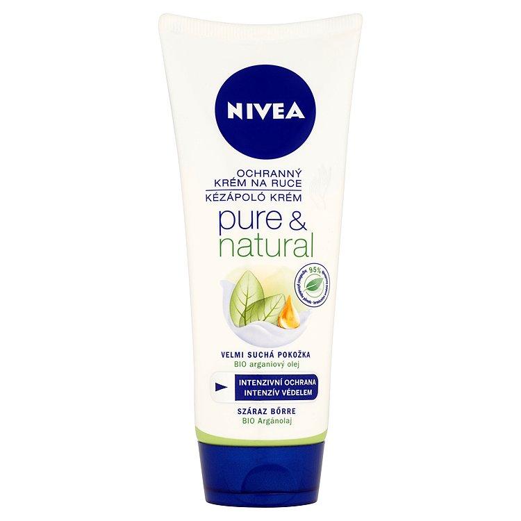 Nivea Pure & Natural ochranný krém na ruce 100 ml