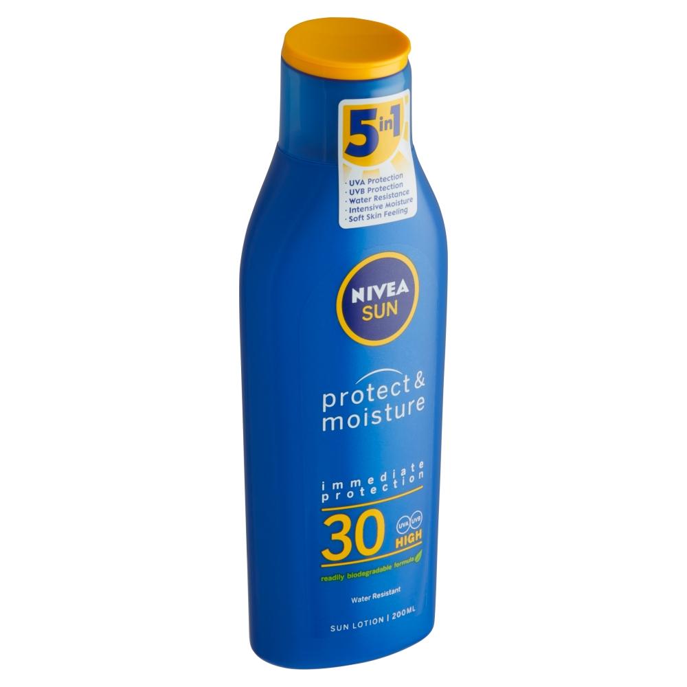 Nivea Sun Protect & Moisture Hydratační mléko na opalování OF 30 200 ml
