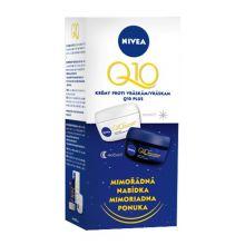 Nivea Day and Night Care Q10 Plus - Sada denní a noční péče proti vráskám 50 ml + 50 ml