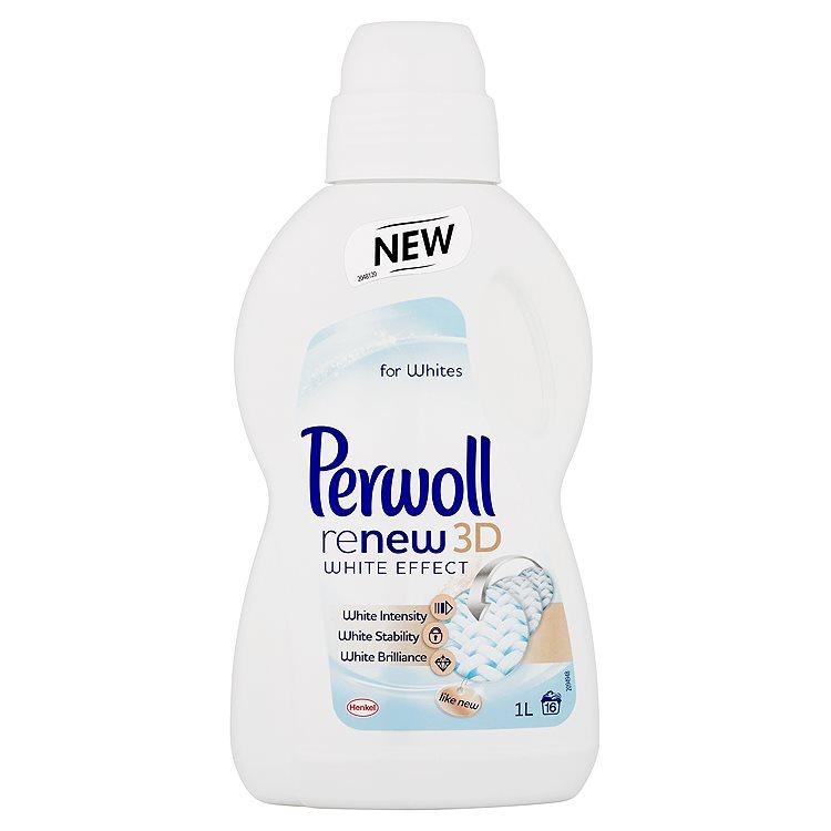 Fotografie Perwoll ReNew 3D White Effect prací prostředek na bílé prádlo, 16 praní 1 l