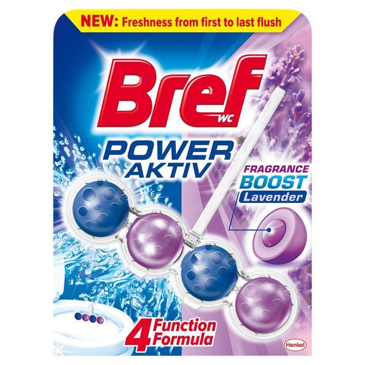 Fotografie Bref Power Aktiv WC blok, Lavender 50 g