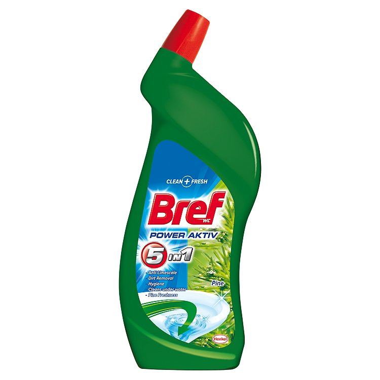 Bref Power Aktiv WC gel, borovice 750 ml
