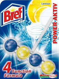 Bref Power Aktiv WC blok, Lemon 50 g