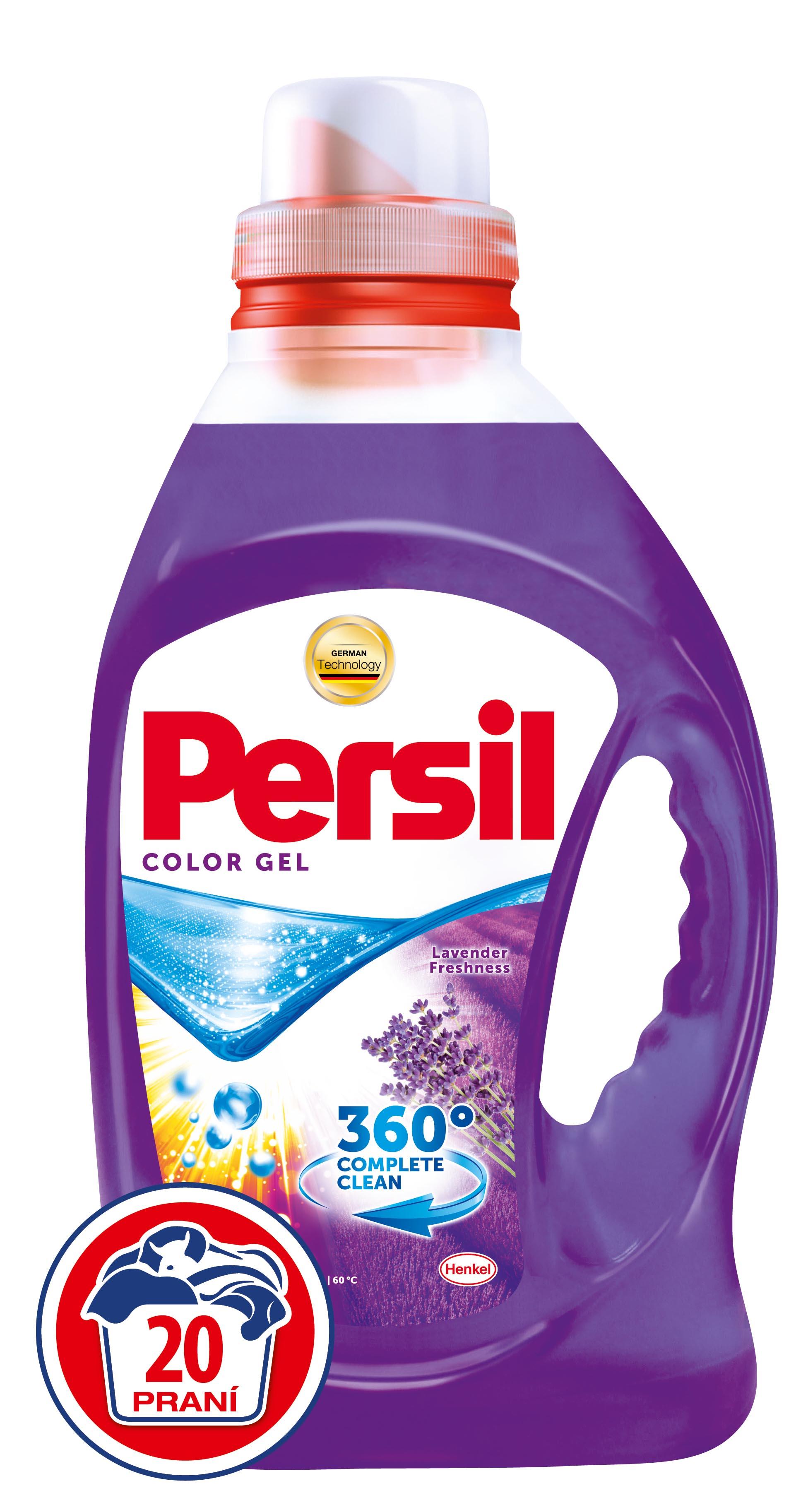 Fotografie Persil Color gel levandule, 20 praní 1,46 l