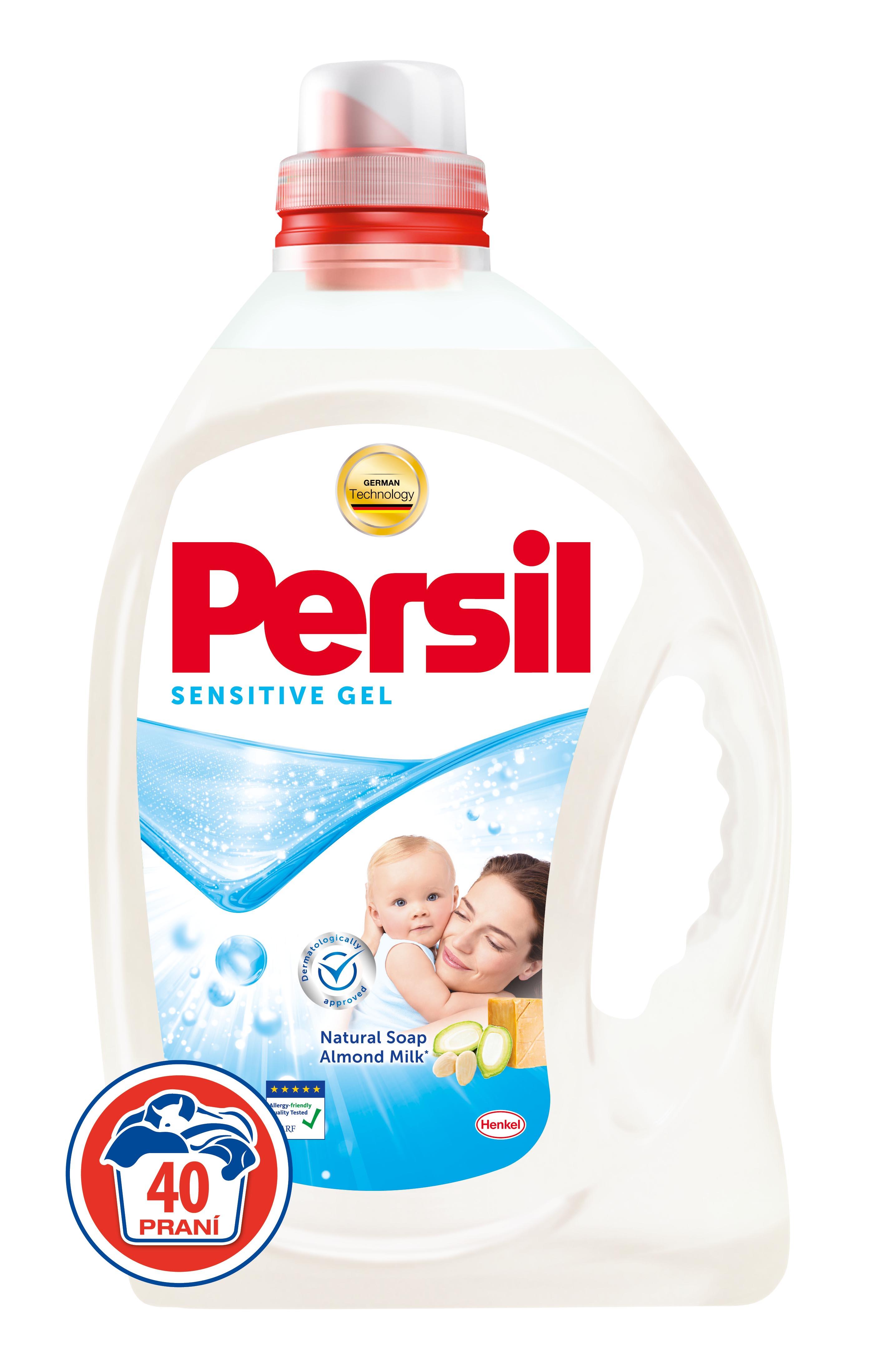 Persil Sensitive gel, 40 praní 2,92 l