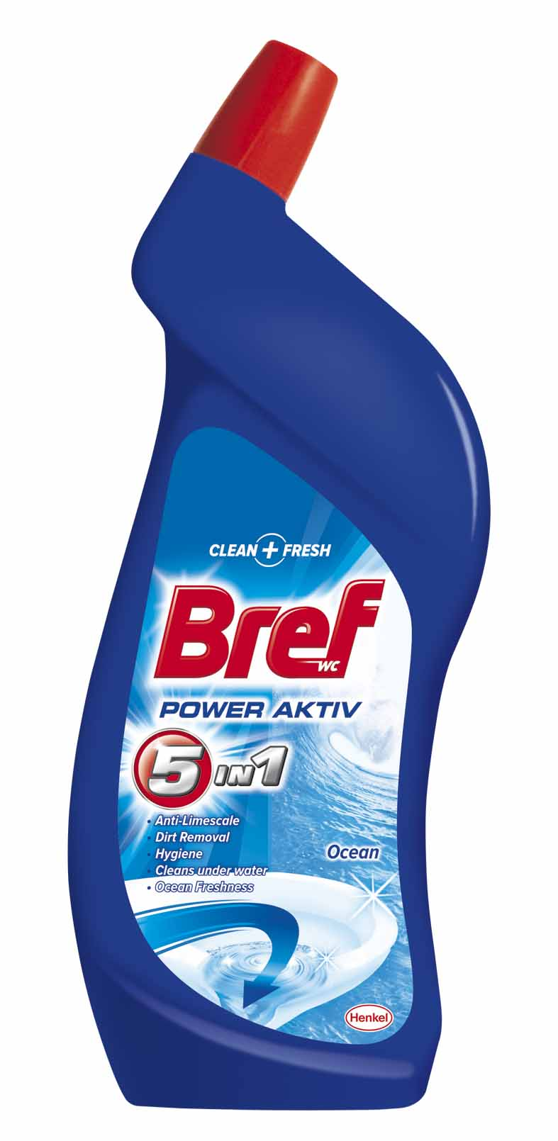 Bref Power Aktiv WC čistič, oceán 750 ml