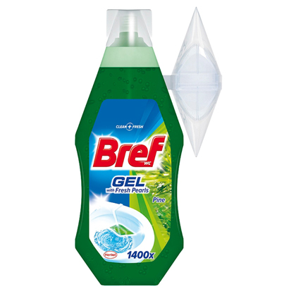 Bref Fresh Pearls WC gel, borovice 360 ml