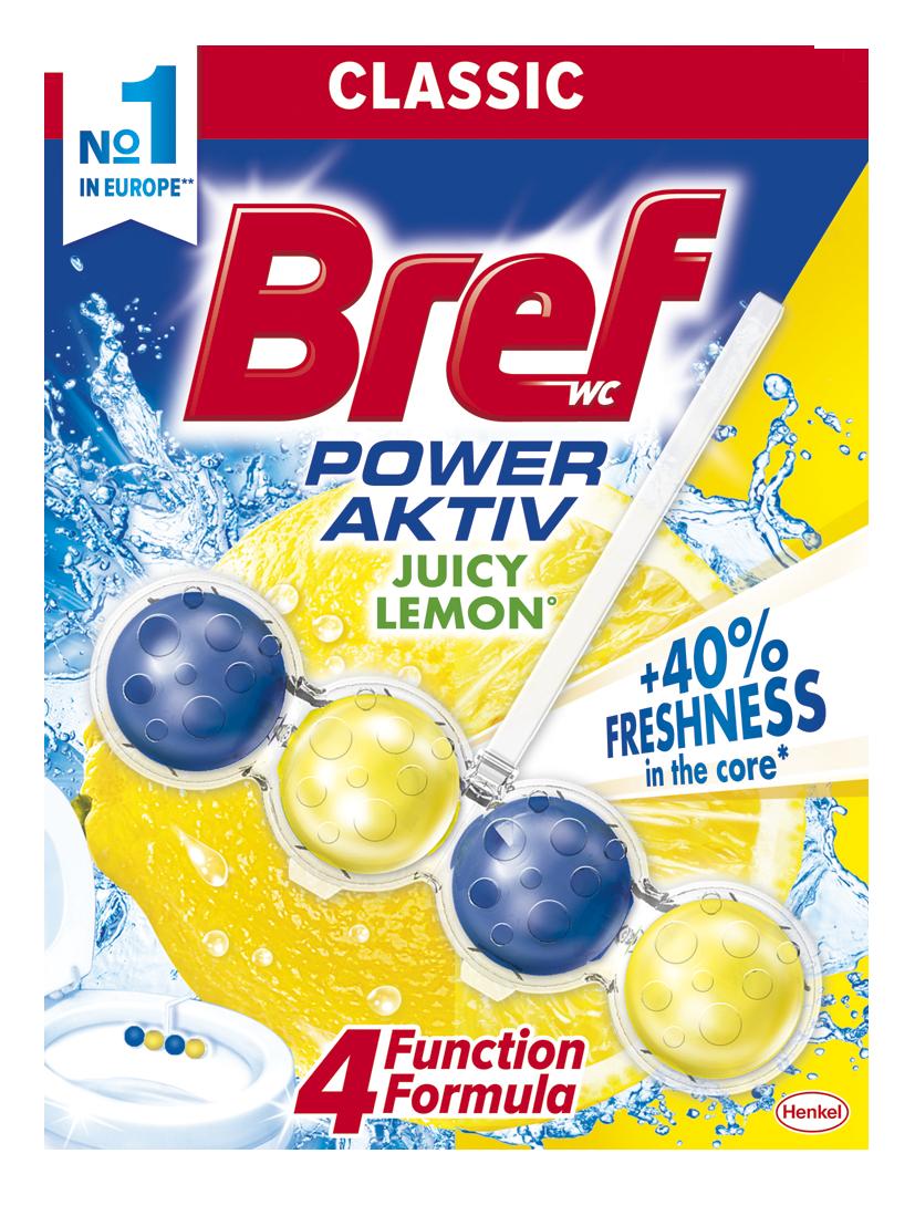 Bref Power Aktiv WC blok, Lemon 50 g