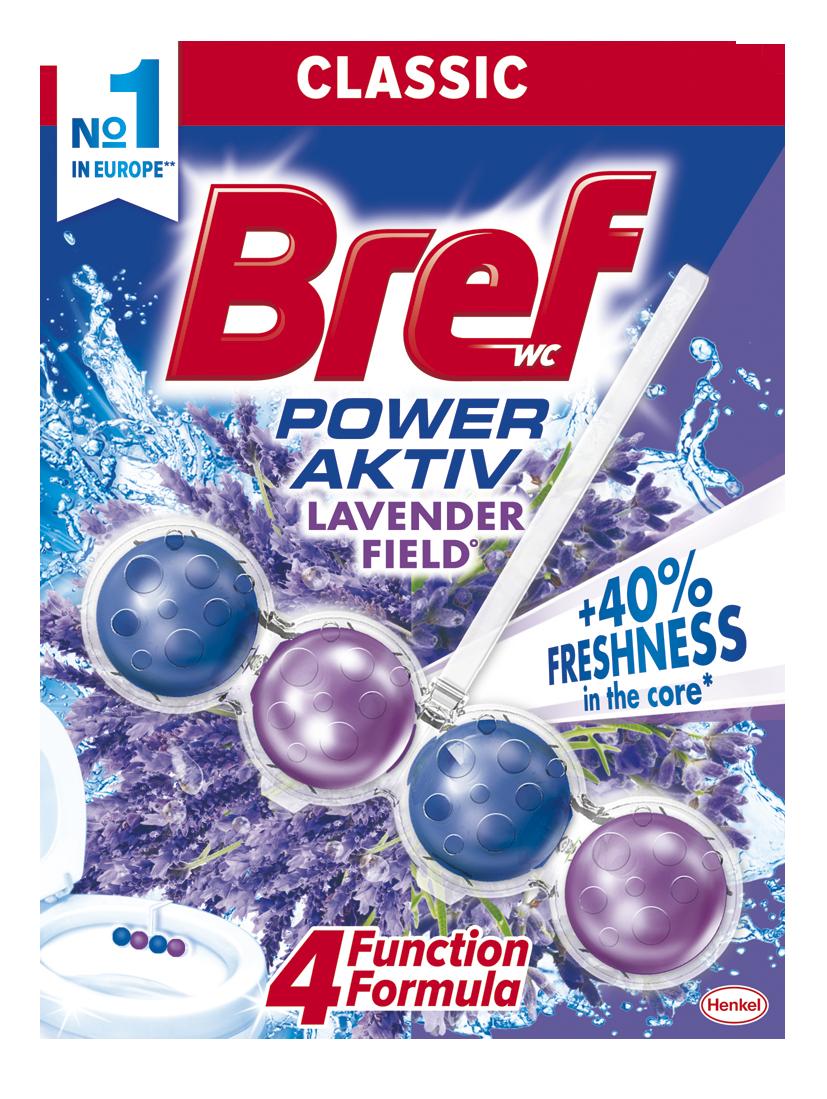 Bref Power Aktiv WC blok, Lavender 50 g