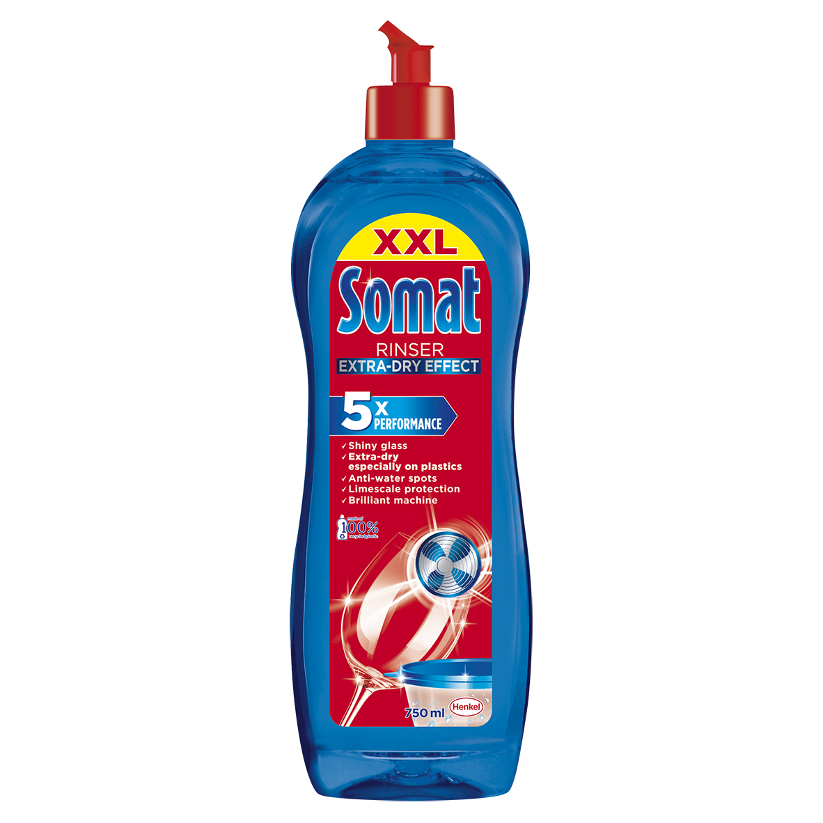 Somat 3-Shine Action oplachovač do myčky 750 ml