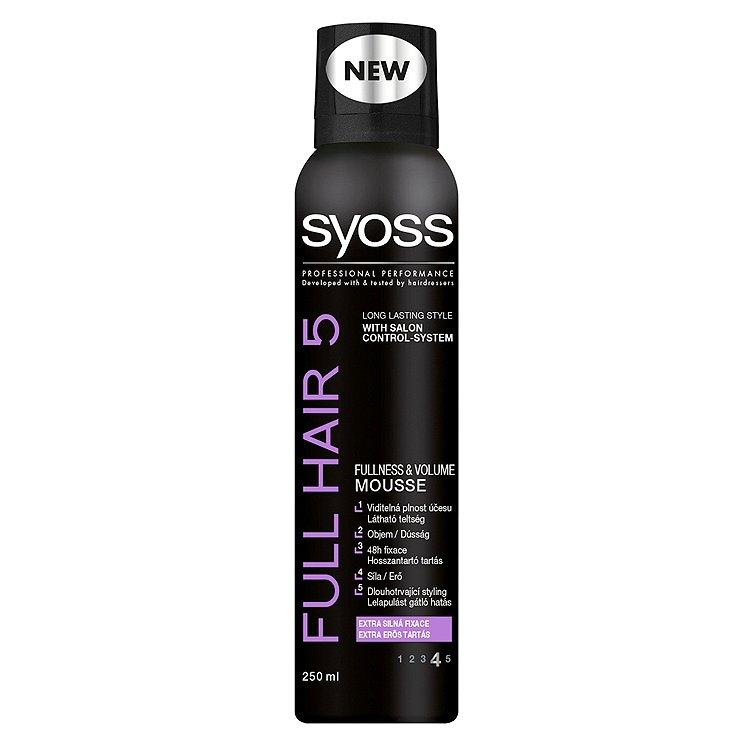Fotografie Syoss Full Hair 5 pěnové tužidlo extra silná fixace 250 ml
