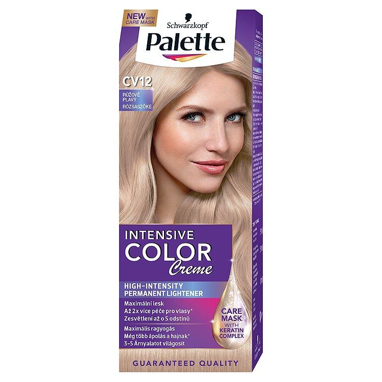Fotografie Schwarzkopf Palette Intensive Color Creme barva na vlasy Růžově Plavý CV12