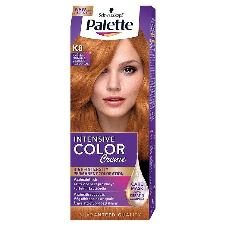 Schwarzkopf Palette Intensive Color Creme barva na vlasy Světle Měděný K8