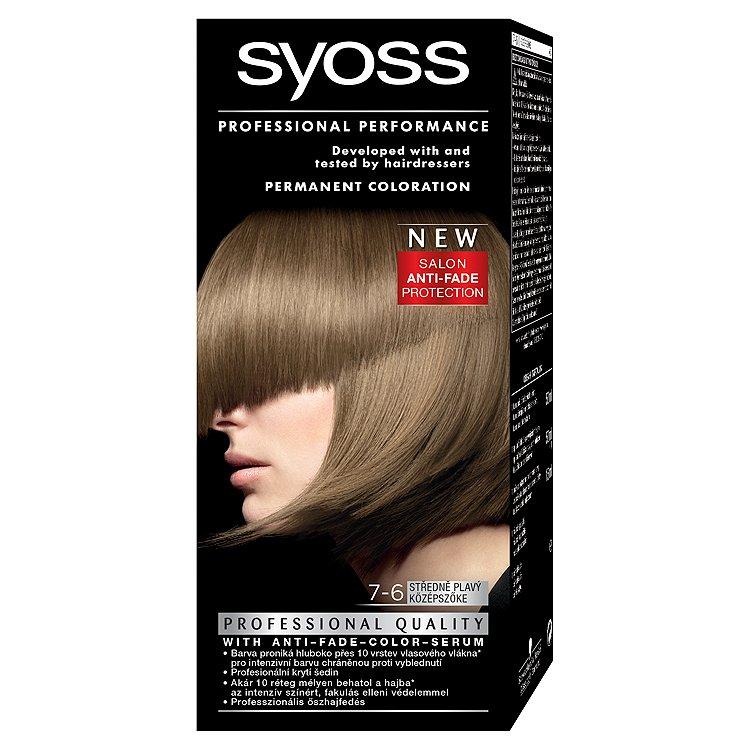 Fotografie Syoss barva na vlasy Středně Plavý 7-6