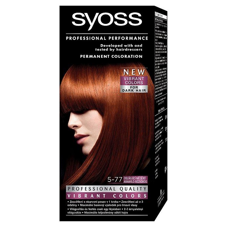Fotografie Syoss barva na vlasy Oslňující Měděný 5-77
