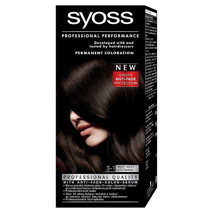 Fotografie Syoss barva na vlasy Tmavě Hnědý 3-1