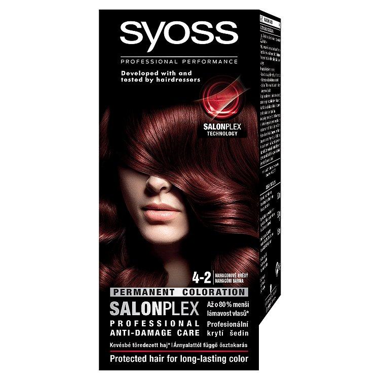 Syoss SalonPlex barva na vlasy Mahagonově Hnědý 4-2