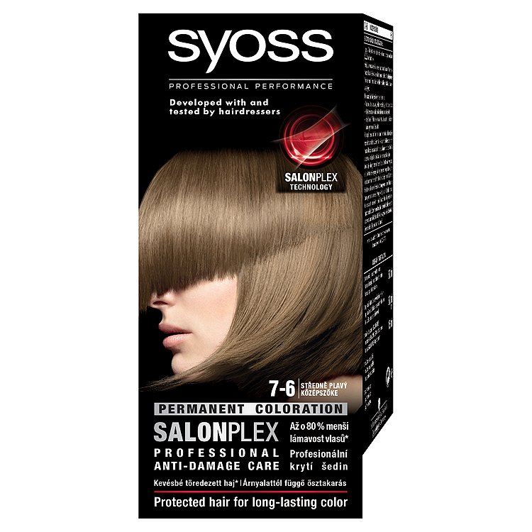 Syoss barva na vlasy Středně Plavý 7-6