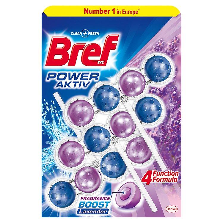 Bref Power Aktiv WC blok, Lavender 3 x 50 g