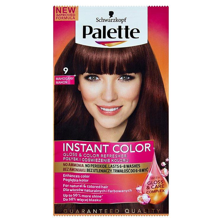 Fotografie Schwarzkopf Palette Instant Color barva na vlasy Mahaganový 9