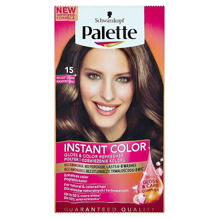 Fotografie Schwarzkopf Palette Instant Color barva na vlasy Nugátově Hnědá 15