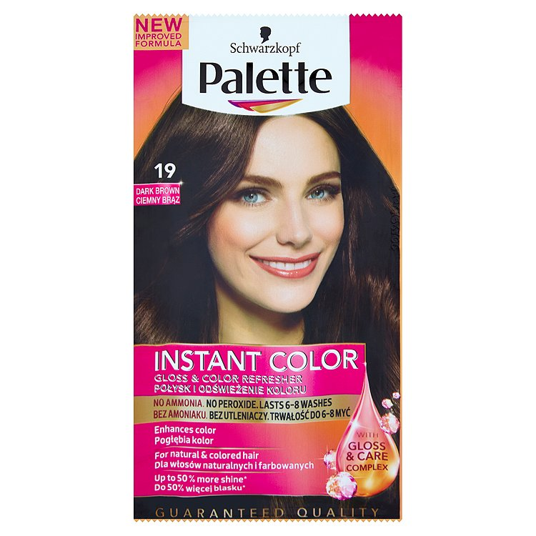 Fotografie Schwarzkopf Palette Instant Color barva na vlasy Tmavě Hnědý 19