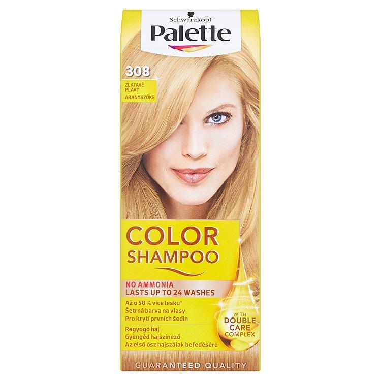 Fotografie Schwarzkopf Palette Color Shampoo barva na vlasy Zlatavě Plavý 308