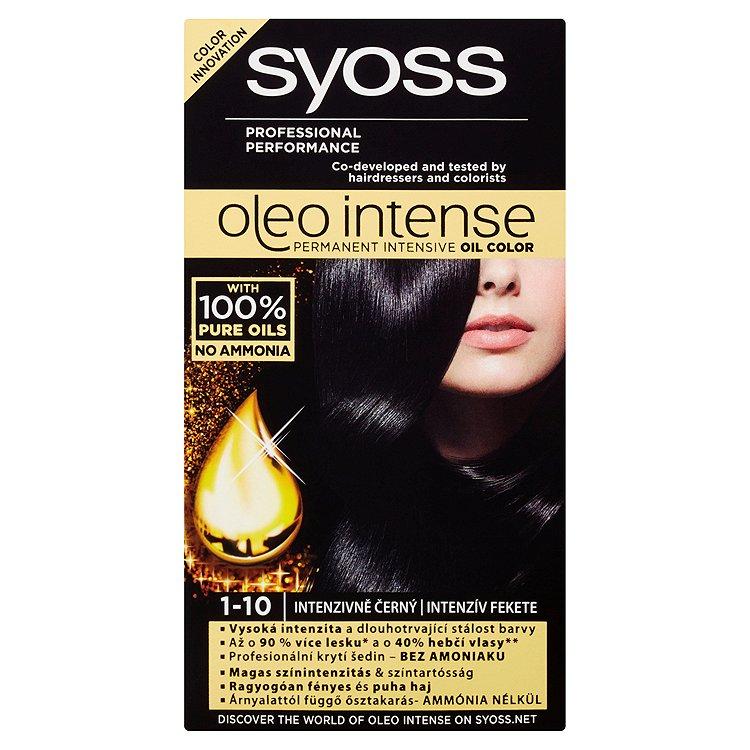 Fotografie Syoss Oleo Intense Syoss barva na vlasy Intenzivně Černý 1-10