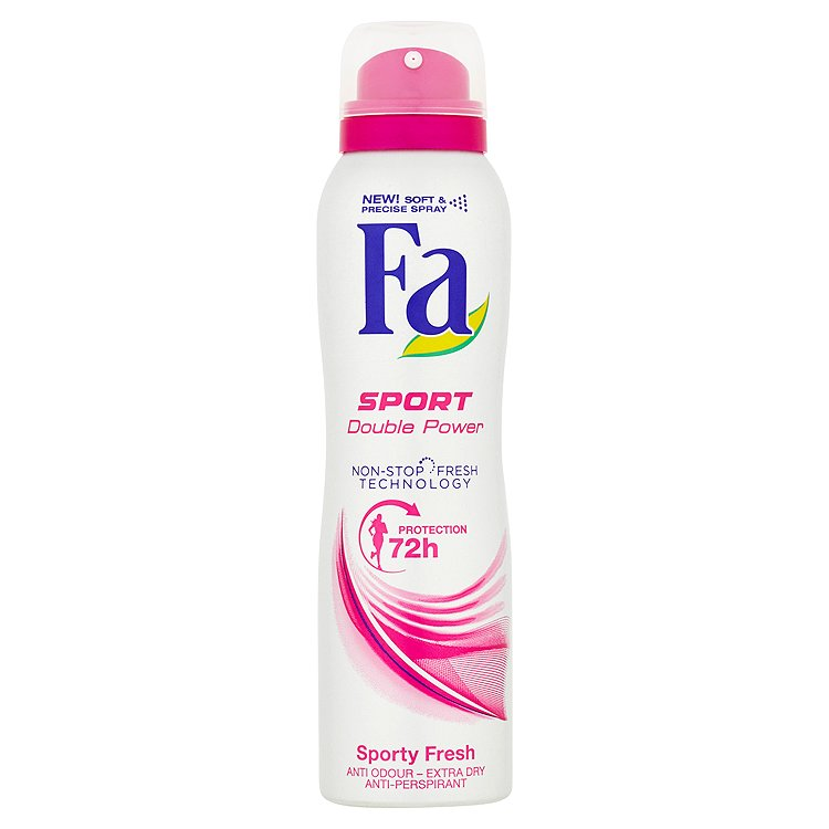 Fotografie Fa Sport Double Power Sporty Fresh Antiperspirant 150 ml