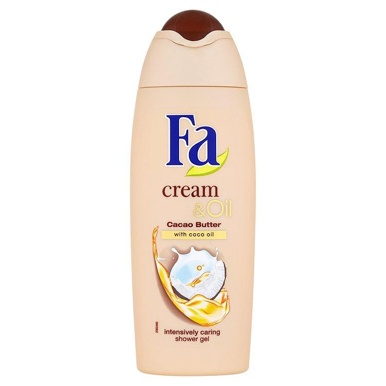 Fotografie Fa sprchový gel Cream & Oil Kakaové máslo a Kokosový olej 250 ml