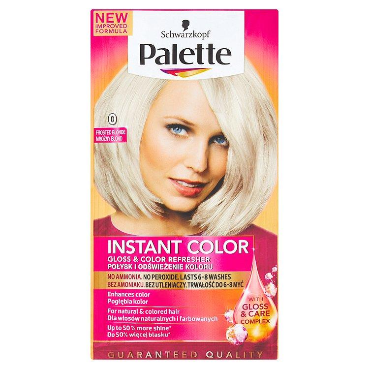 Fotografie Palette Instant Color Barva na vlasy ledově plavý 0 25ml