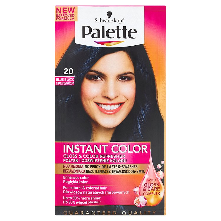 Fotografie Palette Instant Color Barva na vlasy modročerný 20 25ml
