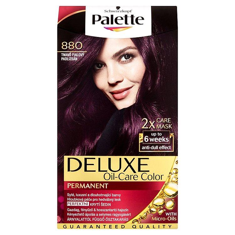 Fotografie Palette Deluxe Dlouhotrvající barva tmavě fialový 880