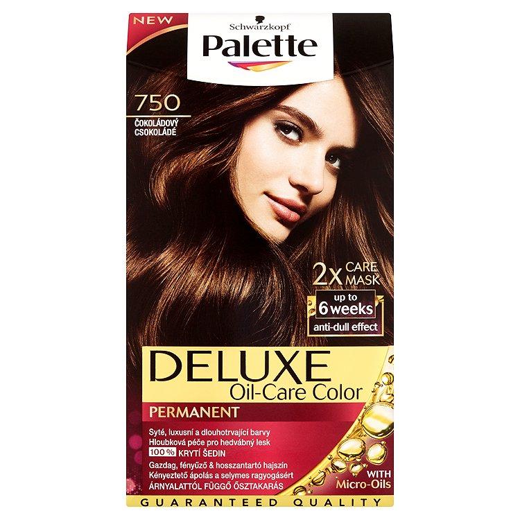Fotografie Palette Deluxe Dlouhotrvající barva čokoládový 750