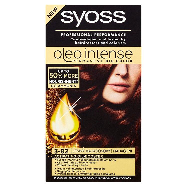 Fotografie Syoss Oleo Intense barva na vlasy Jemný mahagonový 3-82