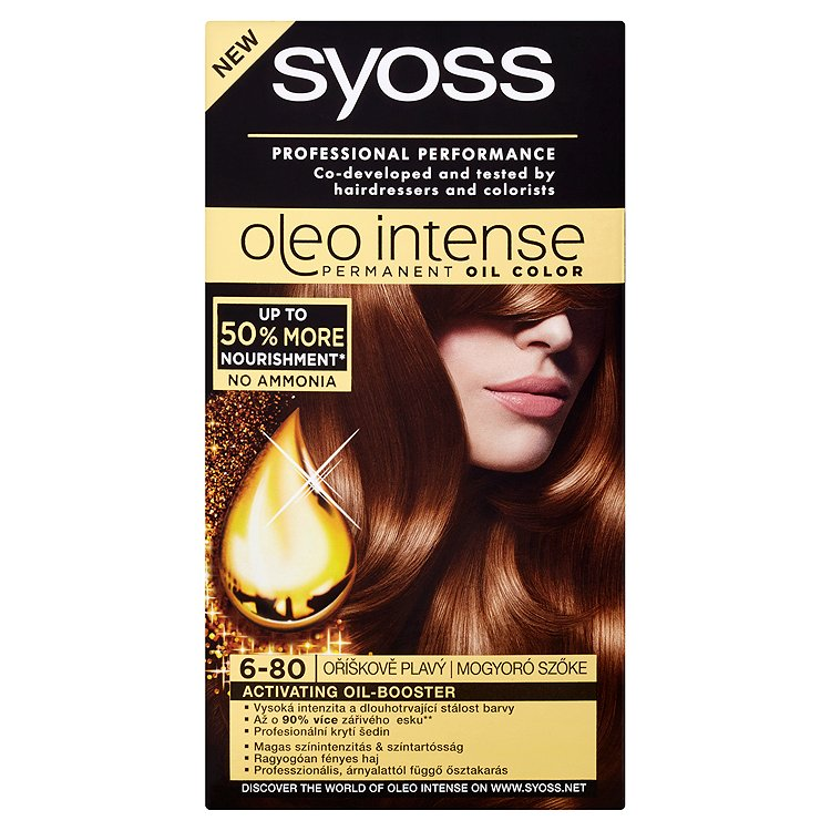 Syoss Oleo Intense Olejová barva oříškově plavý 6-80