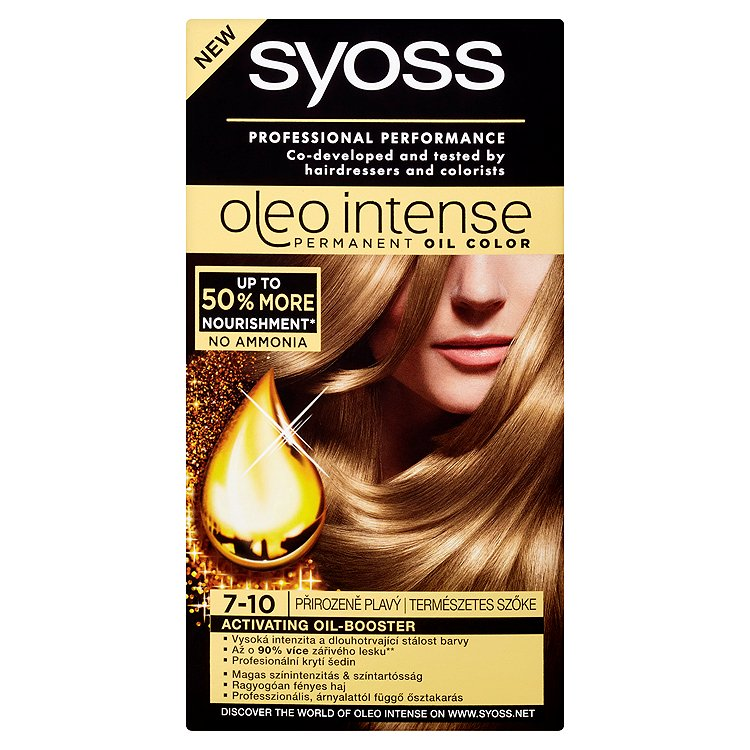 Syoss Oleo Intense barva na vlasy Přirozeně Plavý 7-10