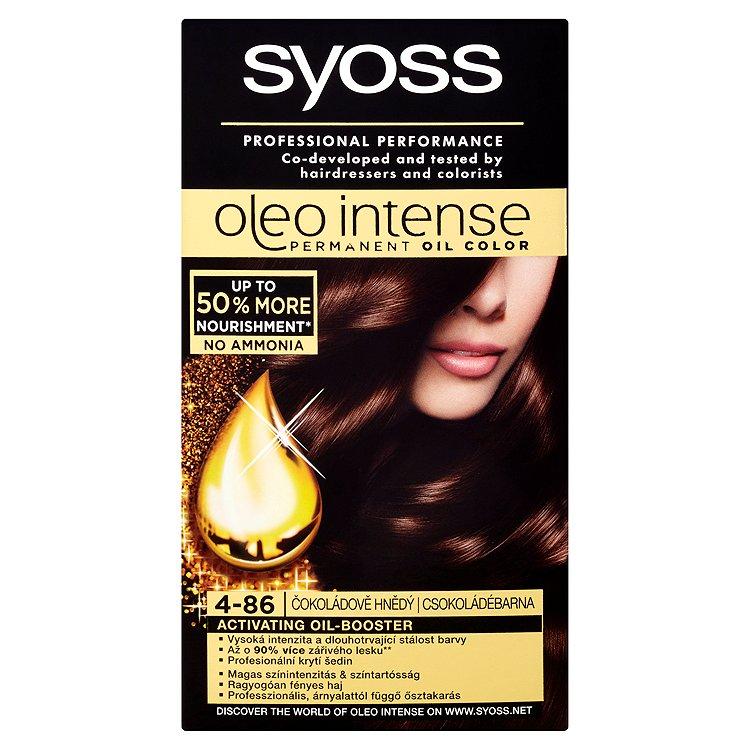 Syoss Oleo Intense Olejová barva čokoládově hnědý 4-86