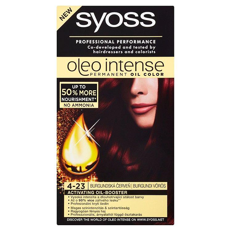 Syoss Oleo Intense Olejová barva burgundská červeň 4-23