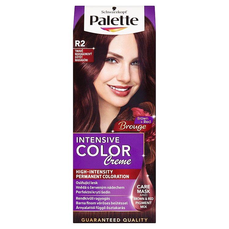 Fotografie Schwarzkopf Palette Intensive Color Creme barva na vlasy Tmavě Mahagonový R2