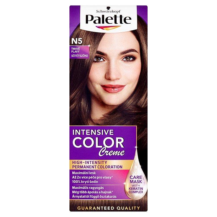 Fotografie Schwarzkopf Palette Intensive Color Creme barva na vlasy Tmavě Plavý N5