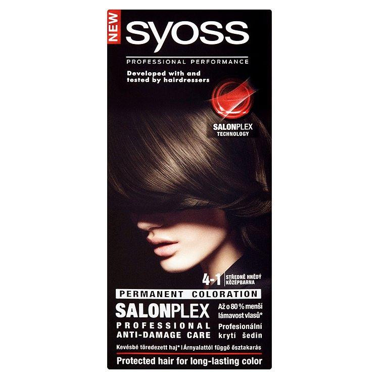Fotografie Syoss barva na vlasy Středně Hnědý 4-1