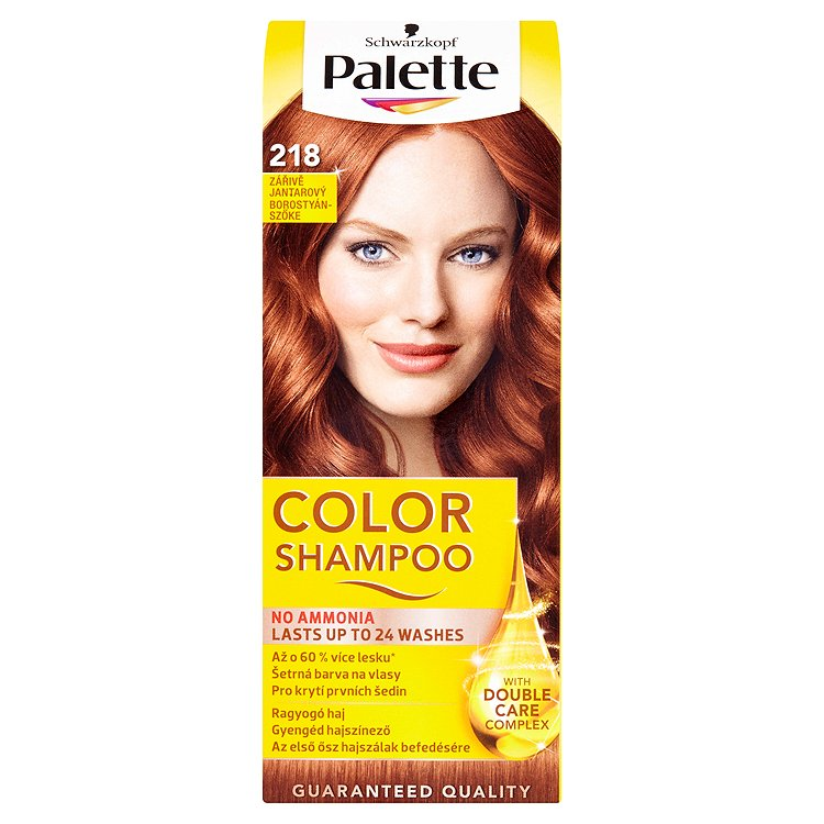 Schwarzkopf Palette Color Shampoo barva na vlasy Zářivě jantarový 218