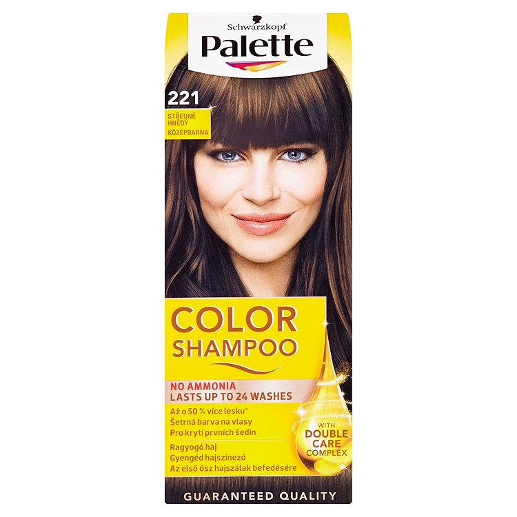 Schwarzkopf Palette Color Shampoo barva na vlasy Středně hnědý 221