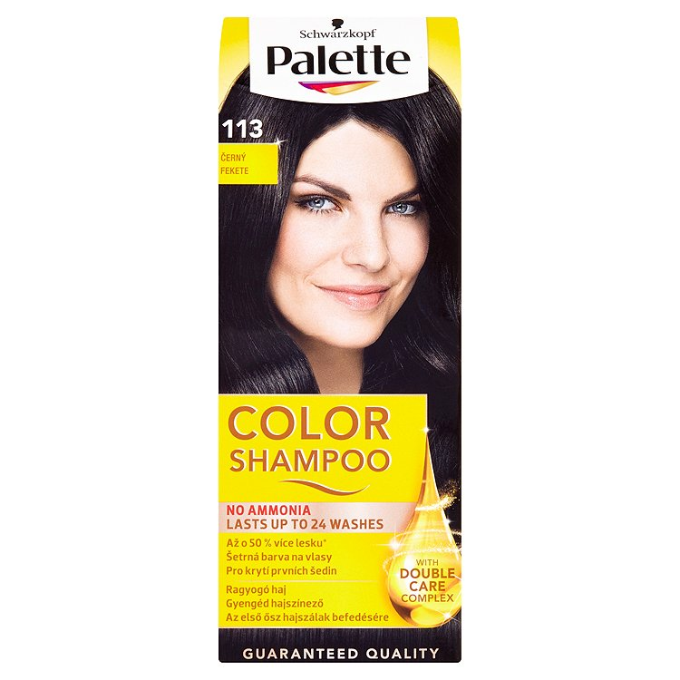 Fotografie Schwarzkopf Palette Color Shampoo barva na vlasy Černý 113